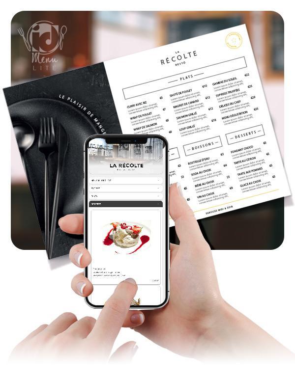 Saisie Carte Menu Qr Code Digital