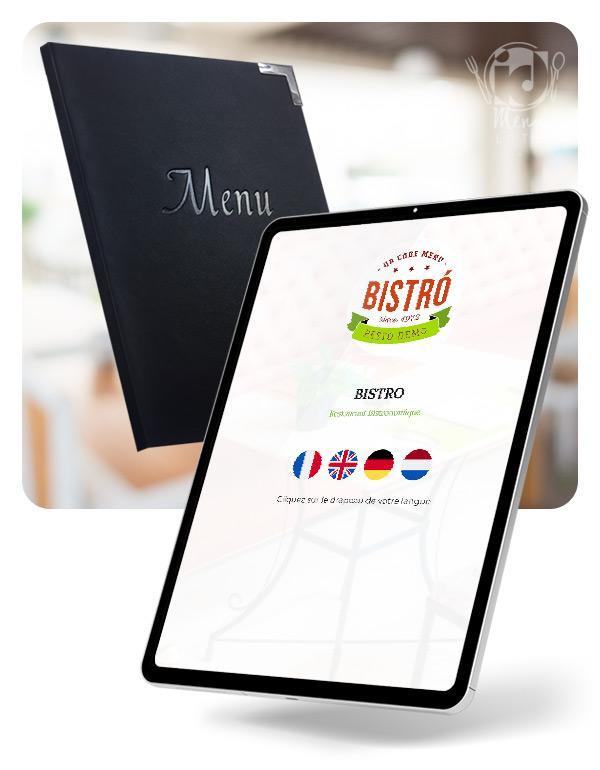 Tablette Etui Menu Digital Numerique Restaurant