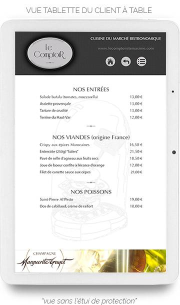 Tablette Tactile Liste Carte
