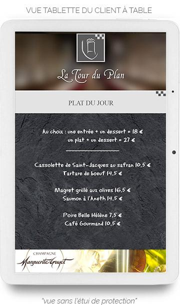 Tablette Tactile Plat Du Jour