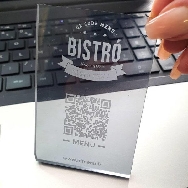Qr Code Restaurant Gravure Plexi Transparent